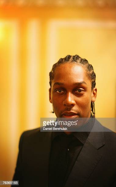 Singer Lemar poses for a photograph at an honourary dinner at the Dorchester Hotel on August 28 2007 in London England Leading black people from...
