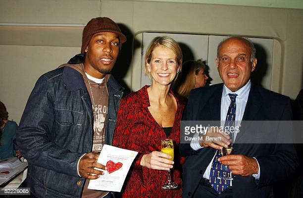 Singer Lemar TV presenter Ulrika Jonsson and Sir Magdi Yacoub attend the Chain Of Hope auction and party in aid of heart surgeon Professor Sir Magdi...