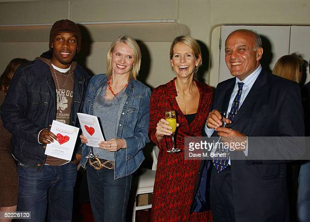 Singer Lemar TV presenters Anneka Rice Ulrika Jonsson and Sir Magdi Yacoub attend the Chain Of Hope auction and party in aid of heart surgeon...