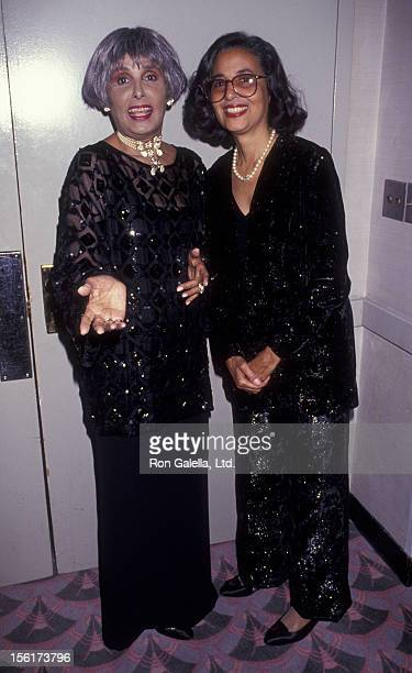 Singer Lena Horne and daughter Gail Buckley attend Lenox Hill Hospital Humanitarian Awards Honoring Lena Horne on October 21 1991 at the Waldorf...