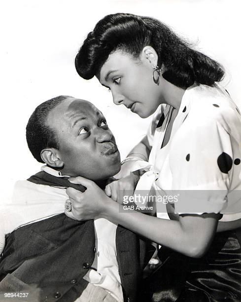 Singer Lena Horne and Eddie 'Rochester' Anderson in a still from the film 'Cabin In The Sky' in 1943