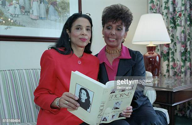 Singer Lena Horne with her daughter Gail Buckley Ms Buckley is holding a book she has written on the Horne family