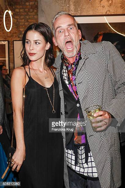 Singer Lena MeyerLandrut and Frank Wilde during the photo art exhibition and book launch of BILLY at Seven Star Gallery on May 4 2016 in Berlin...