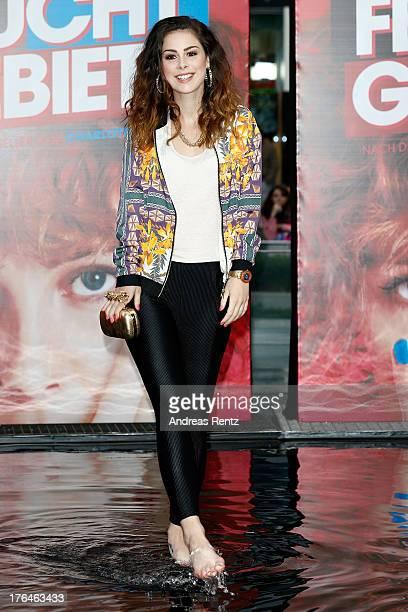Singer Lena MeyerLandrut attends 'Feuchtgebiete' Germany Premiere at Sony Centre on August 13 2013 in Berlin Germany