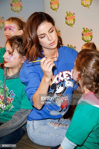 Singer Lena MeyerLandrut attends the KinderTag to celebrate children's day on September 20 2016 in Noervenich near Dueren Germany