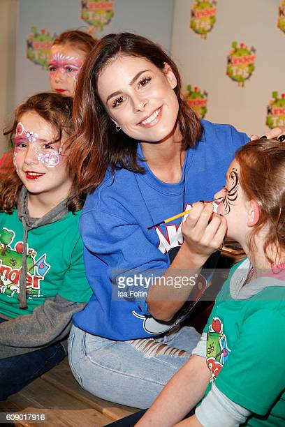 Singer Lena MeyerLandrut attends the KinderTag to celebrate children's day on September 20 2016 in Noervenich near Dueren Germany