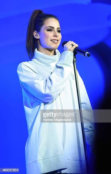 Singer Lena MeyerLandrut performs during the 'Best Brands 2015 Gala Award' at Hotel Bayerischer Hof on February 11 2015 in Munich Germany