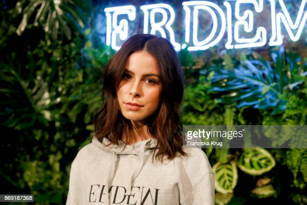 Singer Lena MeyerLandrut wearing ERDEM X HM attends the ERDEM x HM PreShopping Event on November 1 2017 in Berlin Germany