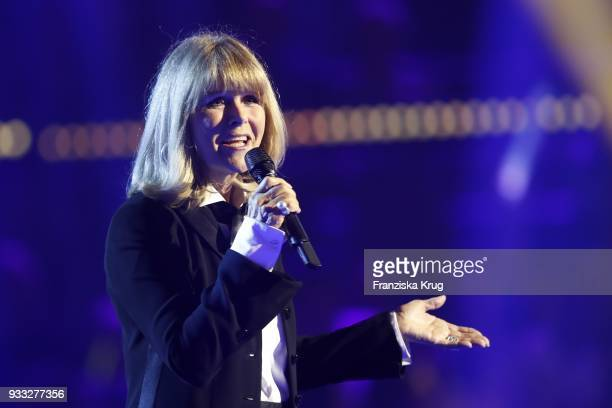 Singer Lena Valaitis performs during the TV show 'Heimlich Die grosse SchlagerUeberraschung' on March 17 2018 in Munich Germany