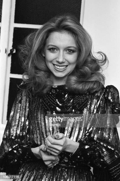 Singer Lena Zavaroni on set of the 'Des O'Connor Show' filmed at Thames Studios in London, England on October 14, 1984.