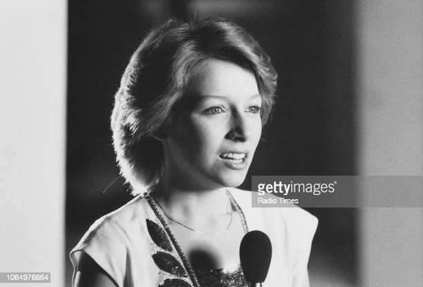 Singer Lena Zavaroni pictured performing, April 1981.