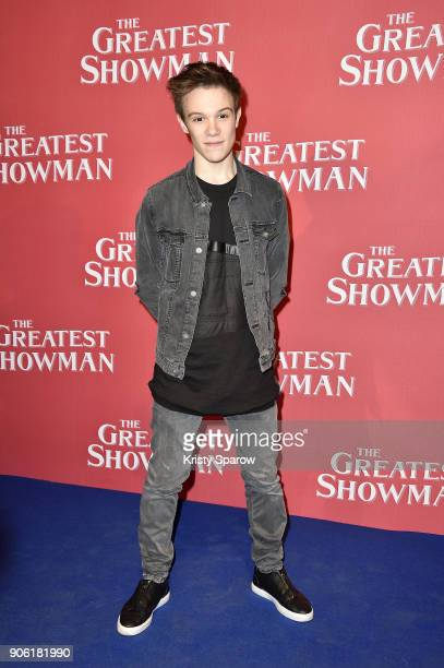 Singer LenniKim Lalande attends the 'The Greatest Showman' Paris Premeire at Gaumont Capucines on January 17 2018 in Paris France