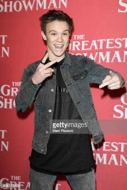 Singer LenniKim Lalande attends the 'The Greatest Showman' Premiere at Gaumont Capucines on January 17 2018 in Paris France