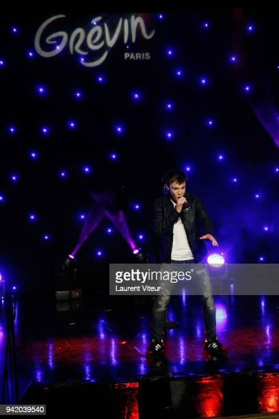 Singer LenniKim performs during 'Miraculous Characters'Wax Wok Unveiling' at Musee Grevin on April 4 2018 in Paris France