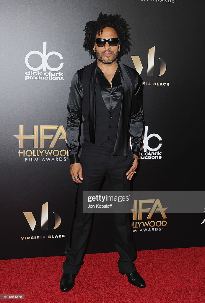 Singer Lenny Kravitz arrives at the 20th Annual Hollywood Film Awards at the Beverly Hilton Hotel on November 6, 2016 in Los Angeles, California.