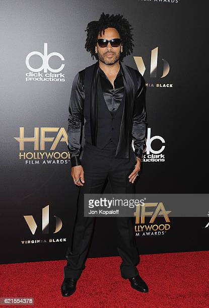 Singer Lenny Kravitz arrives at the 20th Annual Hollywood Film Awards at the Beverly Hilton Hotel on November 6 2016 in Los Angeles California