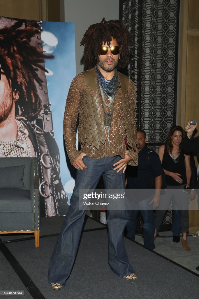 Singer Lenny Kravitz attends a press conference to promote his 'Raise Vibration Tour' at St. Regis Hotel on April 11, 2018 in Mexico City, Mexico. (Photo by Victor Chavez/Getty Images). Lenny Kravitz will perform three concerts on april 13 México City, on april 15 Monterrey and on april 18 Guadalajara.