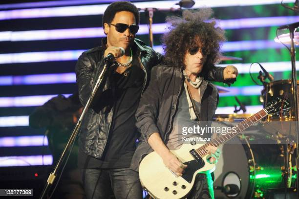 Singer Lenny Kravitz performs onstage at the 2012 NFL Honors at the Murat Theatre on February 4, 2012 in Indianapolis, Indiana.