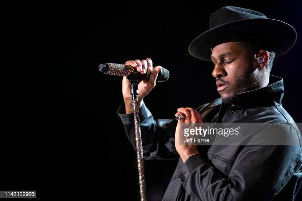 Singer Leon Bridges performs at Charlotte Metro Credit Union Amphitheatre on April 11, 2019 in Charlotte, North Carolina.