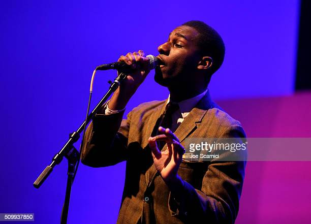 Singer Leon Bridges performs at Delta Air Lines Toasts GRAMMY Weekend with Sites and Sounds A Private Performance and Interactive Evening with GRAMMY...