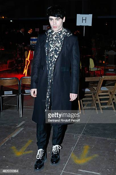 Singer Leon Else attends the Givenchy Menswear Fall/Winter 20152016 Show as part of Paris Fashion Week on January 23 2015 in Paris France