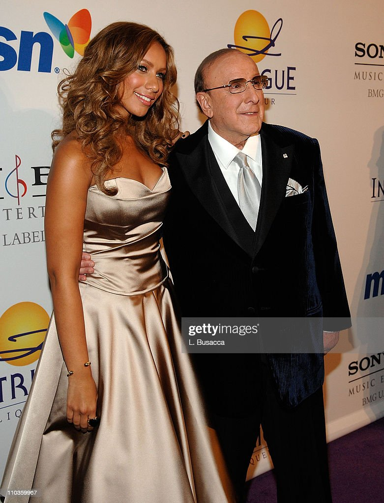 Singer Leona Lewis and Clive Davis, Chairman and CEO BMG US attends the 2008 Clive Davis Pre-GRAMMY party at the Beverly Hilton Hotel on February 9, 2008 in Los Angeles, California.