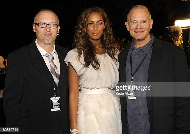 Singer Leona Lewis and President of MTV Networks International Bill Roedy arrive at the MTV Australia Awards 2008 at the Australian Technology Park...