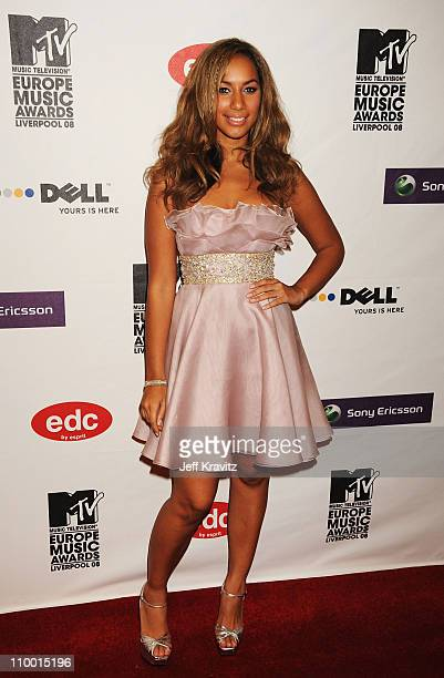 Singer Leona Lewis arrives for the 2008 MTV Europe Music Awards held at at the Echo Arena on November 6 2008 in Liverpool England