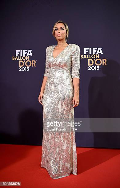 Singer Leona Lewis arrives for the FIFA Ballon d'Or Gala 2015 at the Kongresshaus on January 11, 2016 in Zurich, Switzerland.