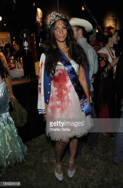 Singer Leona Lewis attends Bacardi and Maroon 5's Annual Halloween Bash held at Hollywood Forever Cemetary on October 31 2011 in Hollywood California
