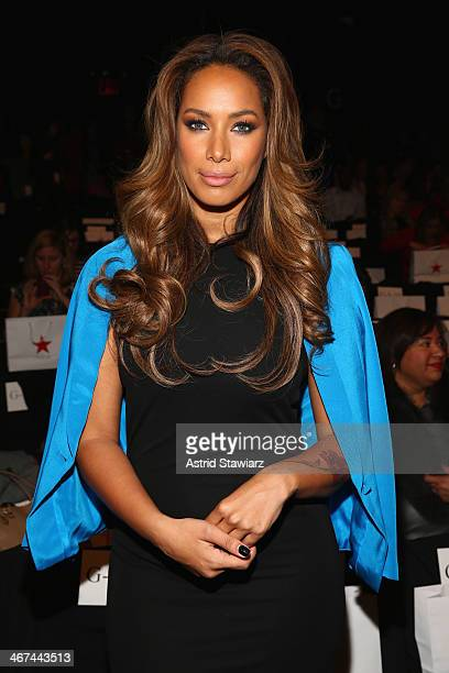 Singer Leona Lewis attends Go Red For Women The Heart Truth Red Dress Collection fashion show during Mercedes-Benz Fashion Week at The Theatre at...