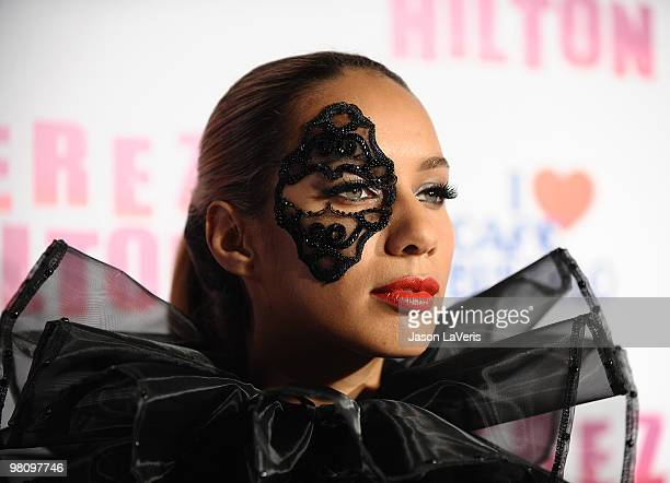 Singer Leona Lewis attends Perez Hilton's CarnEvil Theatrical Freak and Funk 32nd birthday party at Paramount Studios on March 27 2010 in Los Angeles...