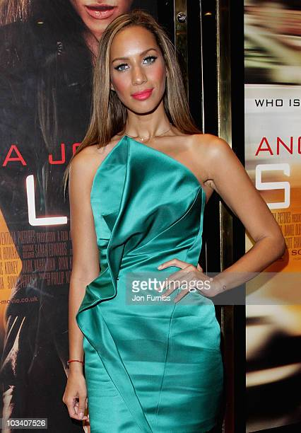 Singer Leona Lewis attends the UK film premiere of 'Salt' at the Empire Leicester Square on August 16 2010 in London England