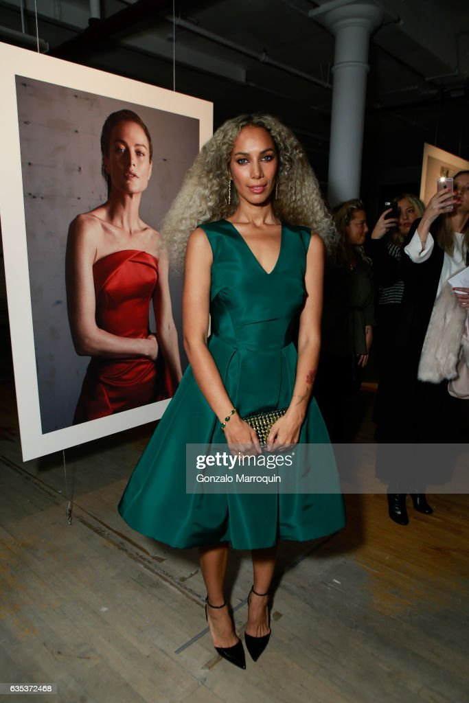 Singer Leona Lewis attends the Zac Posen Presentation during New York Fashion Week: at 13-17 Laight Street on February 14, 2017 in New York City.