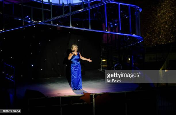 Singer Lesley Garrett performs as volunteer cast members take part in a live outdoor performance called Great North Star on the quayside at Gateshead...