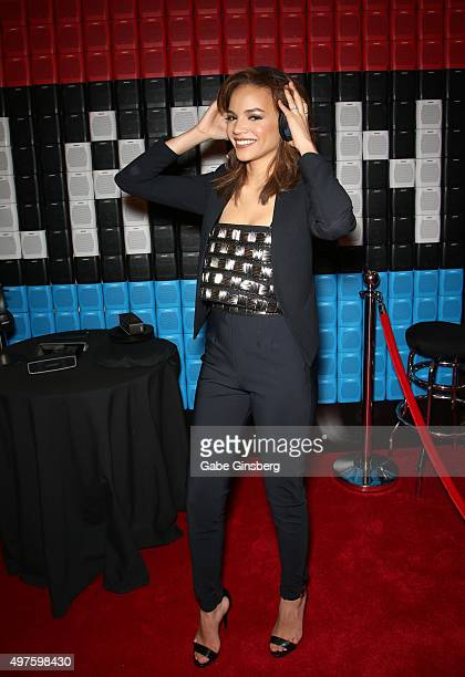 Singer Leslie Grace attends the gift lounge during the 16th Latin GRAMMY Awards at the MGM Grand Garden Arena on November 17 2015 in Las Vegas Nevada