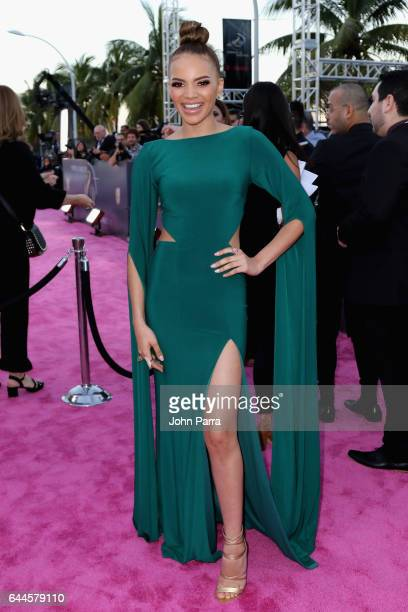 Singer Leslie Grace attends Univision's 29th Edition of Premio Lo Nuestro A La Musica Latina at the American Airlines Arena on February 23 2017 in...