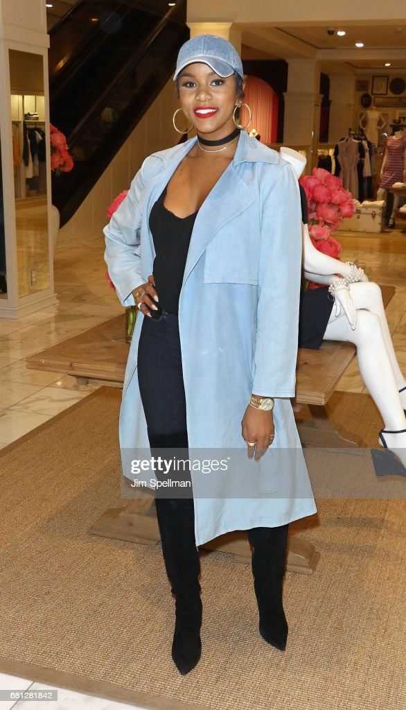 Singer LeToya Luckett attends Plum Skye's 'Party Girls Die In Pearls' book launch celebration at Brooks Brothers on May 9, 2017 in New York City.