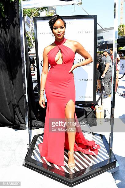Singer LeToya Luckett attends the Cover Girl glam stage during the 2016 BET Awards at the Microsoft Theater on June 26 2016 in Los Angeles California
