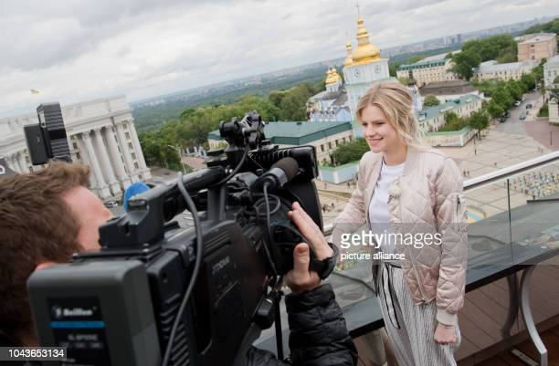 Singer Levina, the German contestant of the Eurovision Song Contest , photographed during a TVinterview in Kiev, Ukraine, 9 May 2017. The Ukrainian...
