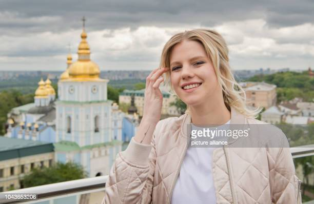 Singer Levina, the German contestant of the Eurovision Song Contest , photographed in Kiev, Ukraine, 9 May 2017. The Ukrainian capital Kiev is this...
