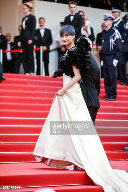 Singer Li Yuchun aka Chris Lee attends the screening of 'Everybody Knows ' and the opening gala during the 71st annual Cannes Film Festival at Palais...