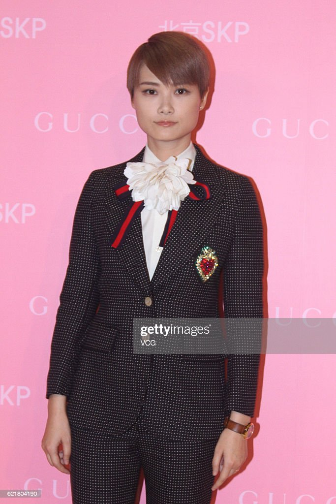 Singer Li Yuchun (aka Chris Lee) attends the reopening ceremony of Gucci flagship store at SKP Beijing on November 8, 2016 in Beijing, China.