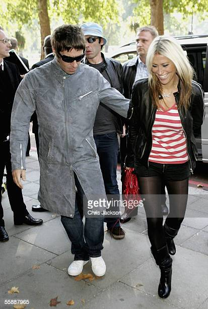 Singer Liam Gallagher arrives with Nicole Appleton at The Q Awards the annual magazines music awards at Grosvenor House on October 10 2005 in London...