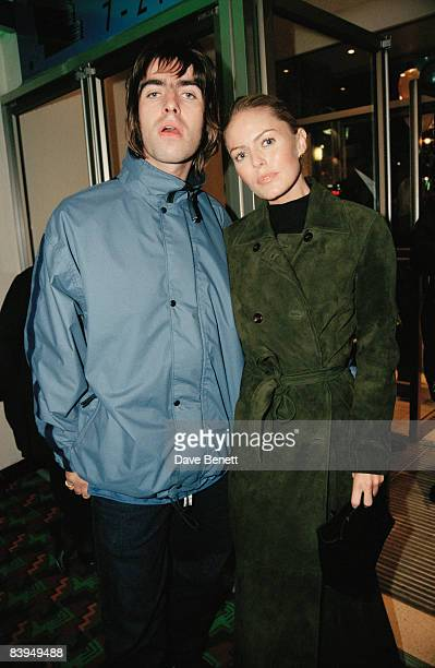 Singer Liam Gallagher of rock group Oasis with his girlfriend actress Patsy Kensit at the premiere of 'Grace Of My Heart' London 19th November 1996