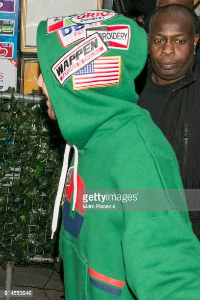 Singer Liam Payne arrives at 'C a Vous' TV show on February 5 2018 in Paris France