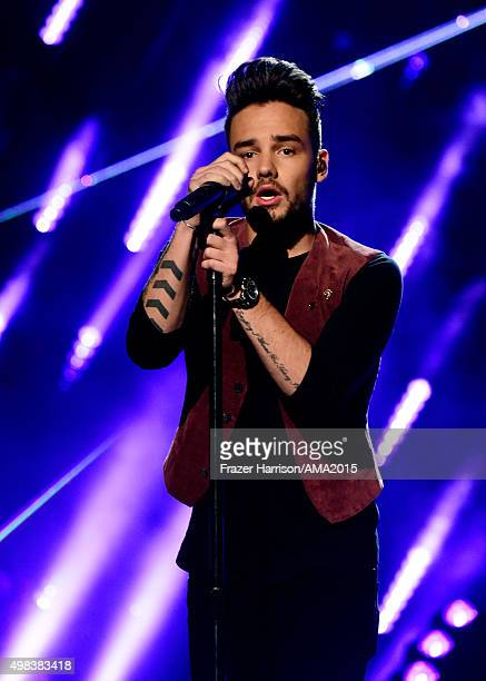 Singer Liam Payne of One Direction performs onstage during the 2015 American Music Awards at Microsoft Theater on November 22 2015 in Los Angeles...