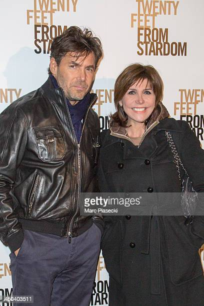 Singer Liane Foly and guest attend the 'Twenty feet from stardom' Paris premiere at Cinema UGC Normandie on November 18 2013 in Paris France