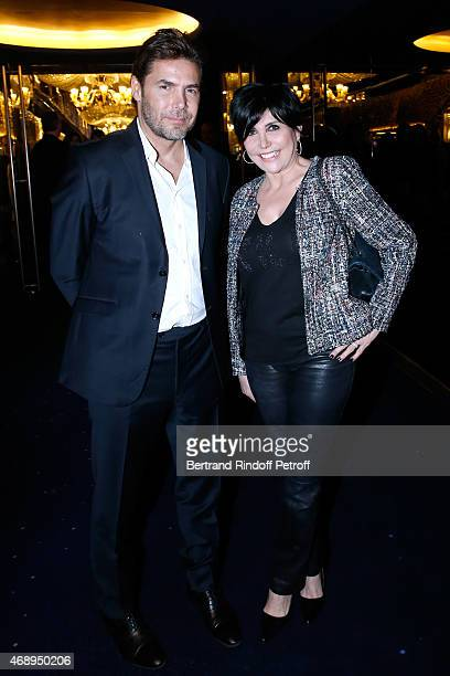 Singer Liane Foly with her husband David Rigaut attend the 'Paris Merveilles' Lido New Revue Opening Gala on April 8 2015 in Paris France