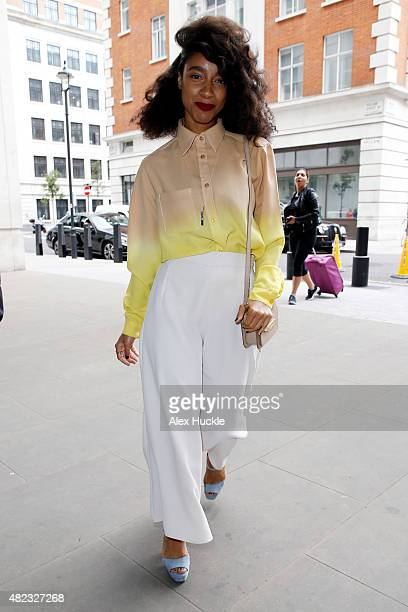Singer Lianne La Havas arrives at the BBC Radio 1 Studios on July 30 2015 in London England